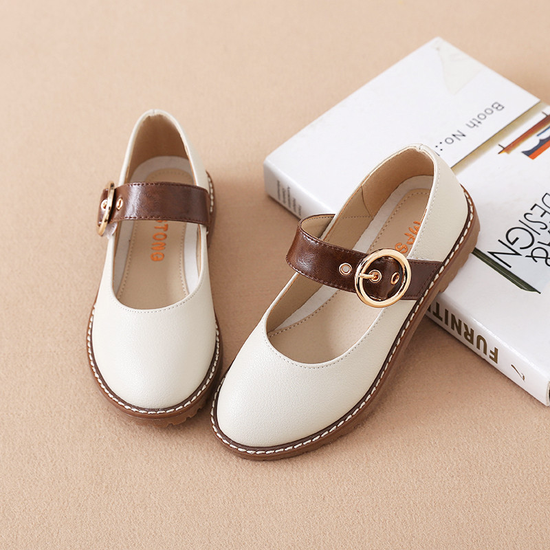 Genuine Leather Girls Shoes 2019 New Children Princess Shoes Girls Students Dance Performance Shoes Kids Hollow Breathable Flats
