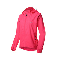 Women Red Jacket Running Hooded Sport Tops Tracksuit Girl Sport Jerseys Breathable Waterproof Summer Hiking Fitness Female