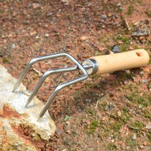 Мини-грабли из нержавеющей стали короткая твердая ручка коготь грабли садовый инструмент Садоводство садовая свободная почва овощей