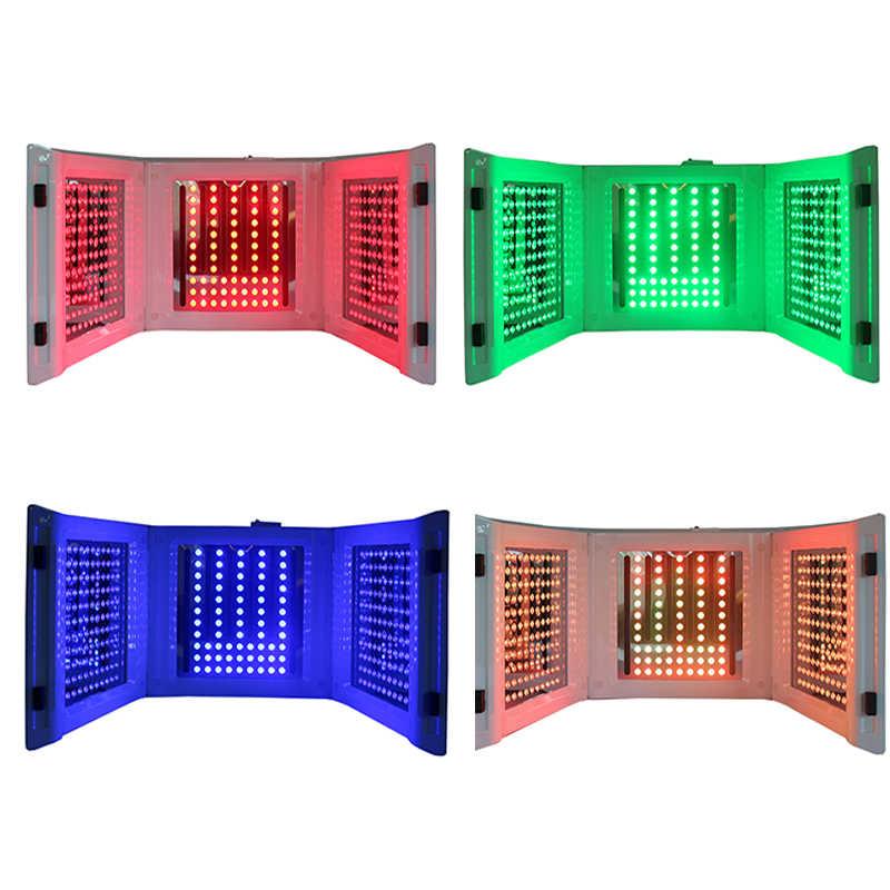 Terapia portátil Luz de bajo nivel LED terapia de fotones rejuvenecimiento de la piel PDT 4 luz de Color Anti-envejecimiento eliminación de arrugas belleza dispositivo