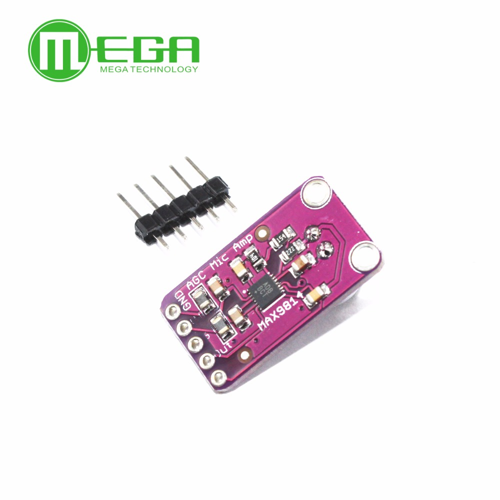 Free Shipping Electret Microphone Amplifier Stable Max9814 Module Auto Gain Control In Integrated Circuits From Electronic Components Supplies On