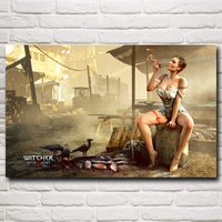 The Witcher 3 Wild Hunt PC Video Game Art Silk Poster Prints Home Decor Printing 12x19