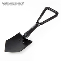 WORKPRO Professional Military Tactical Folding Shovel Survival Spade Outdoor Emergency Camping Tool