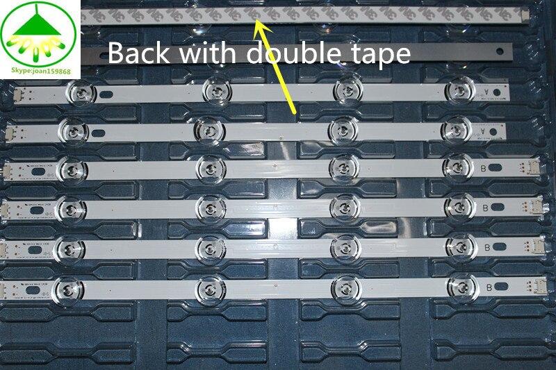 """Image 4 - 825mm LED Backlight Lamp strip 8 leds For LG INNOTEK DRT 3.0 42""""_A/B TYPE REV01 REV7 131202 42 inch LCD Monitor 2sets-in Light Beads from Lights & Lighting"""