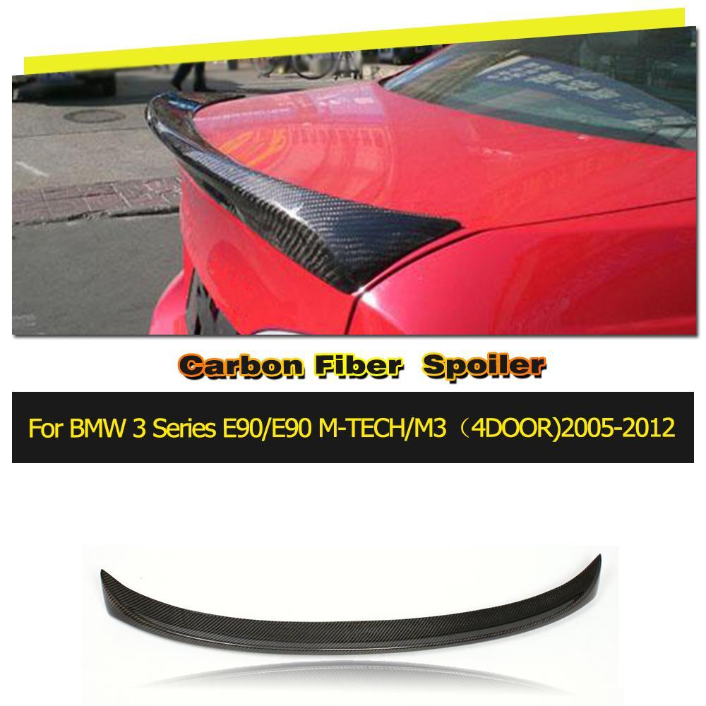 Car-Styling carbon rear spoiler lip wings for BMW 3 Series 330i 335i E90 M sport 2005-2008 bmw e90 335i в москве