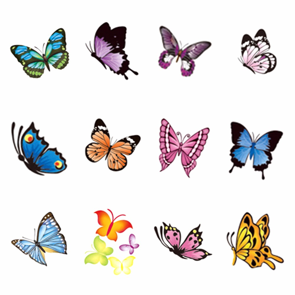 FWC Butterfly Series Nail Sticker Water Decals Nail Art Water Transfer Stickers For Nails 1pcs water nail art transfer nail sticker water decals beauty flowers nail design manicure stickers for nails decorations tools