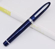 Duke Classic Fountain Pen 911 Dark Blue Big Shark Shape Full Metal Iridium Medium Nib Writing Pen Business Office Home Supplies