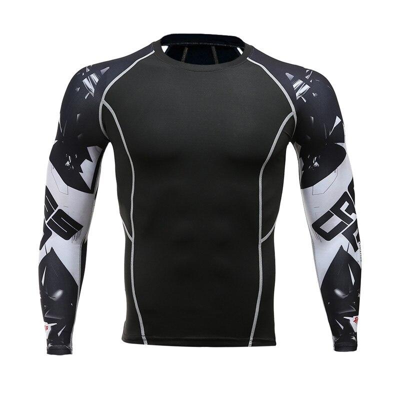 Mens Compression Shirts 3D 틴 울프 유니폼 긴 소매 티셔츠 Fitness Lycra MMA Crossfit T-Shirts Tights 브랜드 의류