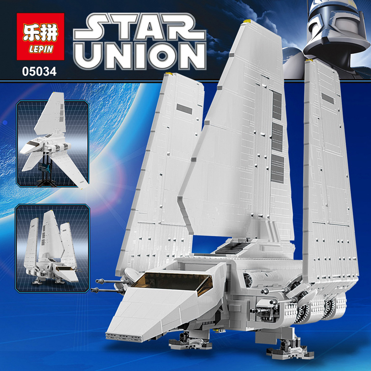 LEPIN 05034 2503Pcs Star Wars Imperial Shuttle Model Building Kit Blocks Bricks Children Toy Compatible legoed 10212 lepin 22001 pirate ship imperial warships model building block briks toys gift 1717pcs compatible legoed 10210