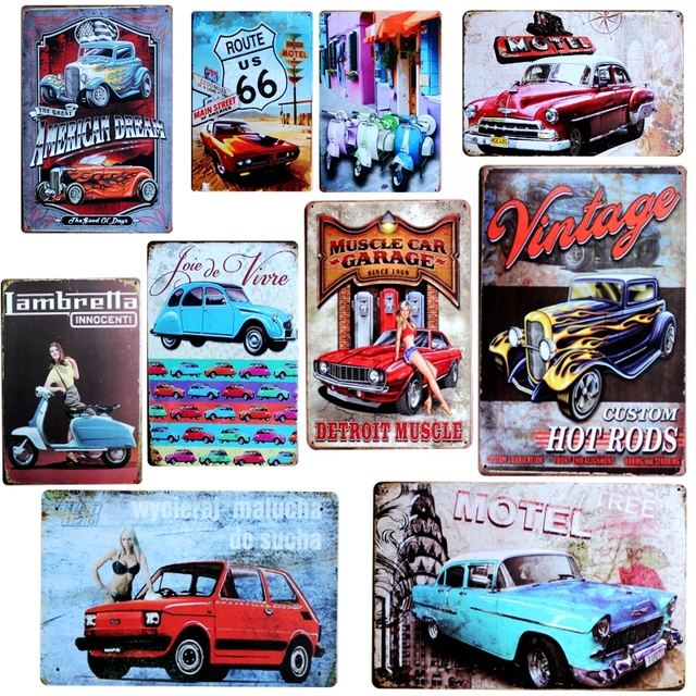 Us 4 99 45 Off Vintage Car Tin Signs Metal Painting Retro Sign Wall Bar Home Art Garage Decor Cuadros 30x20cm A 5574 In Plaques Signs From Home