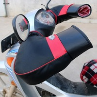 High Quality PU Leather Motorcycle Motor Handlebar Muffs Snowmobile Waterproof Winter Hand Warm Covers Gloves Handle