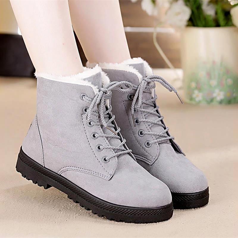 Women Snow boots classic heels suede winter boots  2