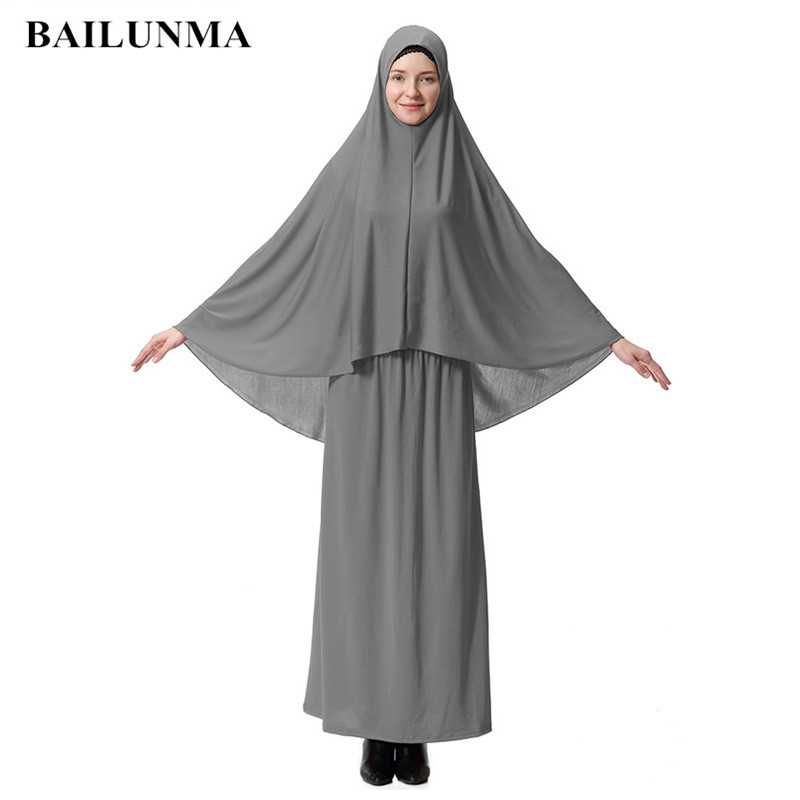 Formal muslim Prayer Garment Sets hijab dress abaya <font><b>afghanistan</b></font> islamic clothing namaz long prayer hijab moslim jurken abayas image