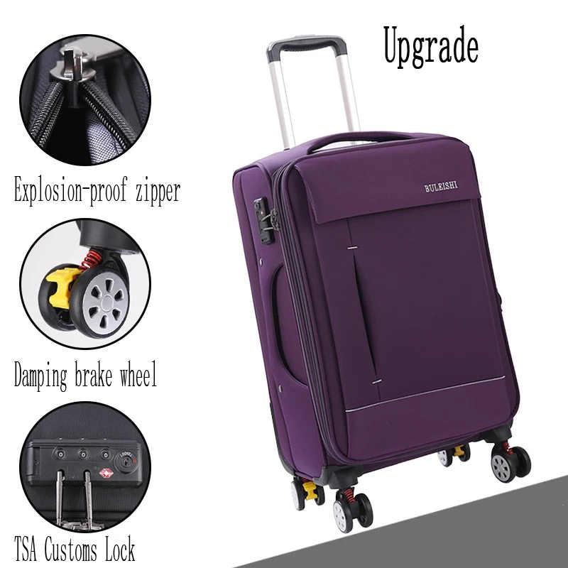 男性ビジネスオックスフォードローリング荷物バッグ 20 インチ女性 24 28 インチ多機能キャリーに輪トロリースーツケースバッグ旅行バッグ