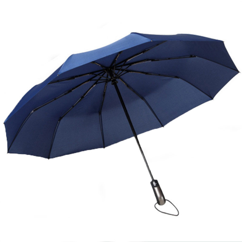 Black Big Golf Automatic Folding Umbrella Female Male Rain Women Folding Strong Large Umbrellas Men Women Windproof For The Sun in Umbrellas from Home Garden