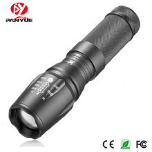 PANYUE 2018 High Quality AAA 18650 Rechargeable Battery Aluminium Adjustable Focus Power Tactical Led Zoom Flashlight Torch
