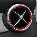 Стайлинга автомобилей, Кондиционер Вентиляционное отверстие Розетки Кольцо Обложка Отделка Украшения для Mercedes Benz B Class W176 W246 AMG Аксессуары