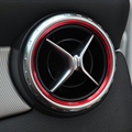 De coches de estilo, aire Acondicionado Ajuste de la Cubierta Decoración Anillo de Salida de Ventilación de Aire para Mercedes Benz W176 W246 Clase AMG Accesorios