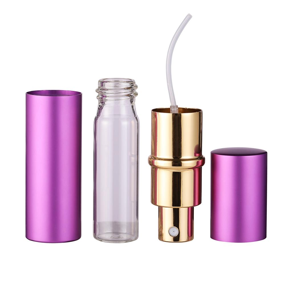 Купить с кэшбэком 10ML Mini Portable For Travel Aluminum Refillable Perfume Bottle With Spray&Empty Cosmetic Containers With Atomizer Hot Sale