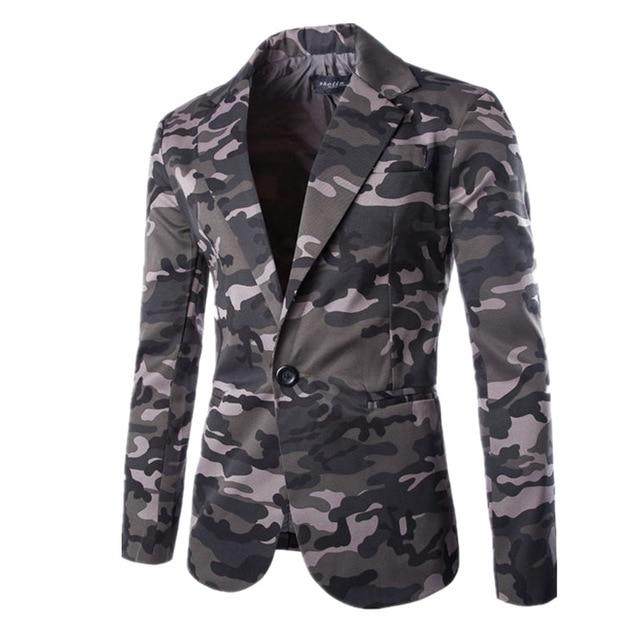 Veste Bouton Seul Slim Blazer Militaire Americanas Mode Same As Photo Camouflage Fit Hommes Coton Manteau Costume Hombre 0xqg8nz