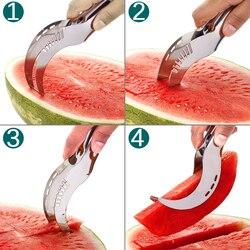 20,8*2,6*2,8 CM Edelstahl Wassermelone Slicer Cutter Messer Corer Obst Gemüse Werkzeuge slicer