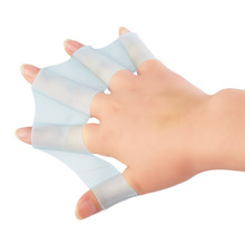 1 пара силиконовых плавников для плавания Ласты пальмовые перчатки с сеткой