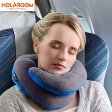 U Shape Memory Foam Travel Car Neck Pillows Ease Fatigue Cushion Black Rose Red And Gray Color Headrest For Auto Office Pillow(China)