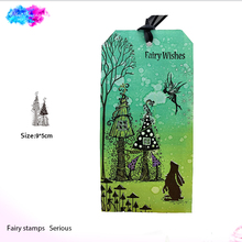fairy house CLEAR STAMPs make stamp DIY Scrapbook Card album paper craft silicone rubber transparent stamps