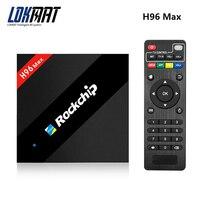 LOKMAT H96 Max 4กิกะไบต์/32กิกะไบต์รอมRockchip RK3399 Android 7.1 google TVกล่องWiFi H.265บลูทูธ4.0 USB3.0 Type-C
