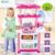 Nuevos Niños de la Llegada del Bebé de La Música Del Juguete Grande de Cocina de Cocina de Simulación modelo de cocina cuadro toys toy play kit de alimentos de plástico para alimentos Kat