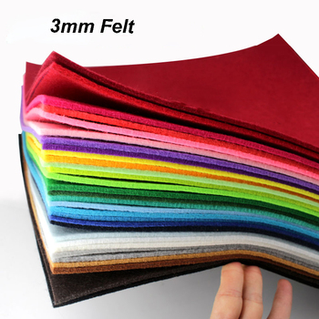 3mm Thickness 30x30cm Polyester Cloth Non Woven Felt For DIY Sewing Dolls Crafts Pattern Materials Bundle Home Decorations 1Pc