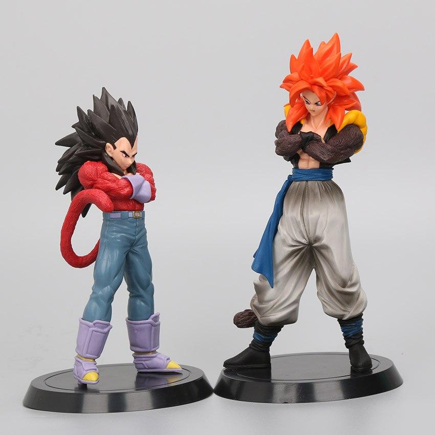 18-20cm Anime Dragon Ball GT Super Saiyan 4 Son Goku Vegeta Gogeta PVC Action Figures Collection Model Toys dragon ball z figurines son goku gogeta