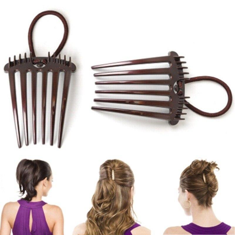 Женский пластиковый зажим для укладки волос, 1 шт., новый зажим для укладки волос|Заколки для плетения кос|   | АлиЭкспресс
