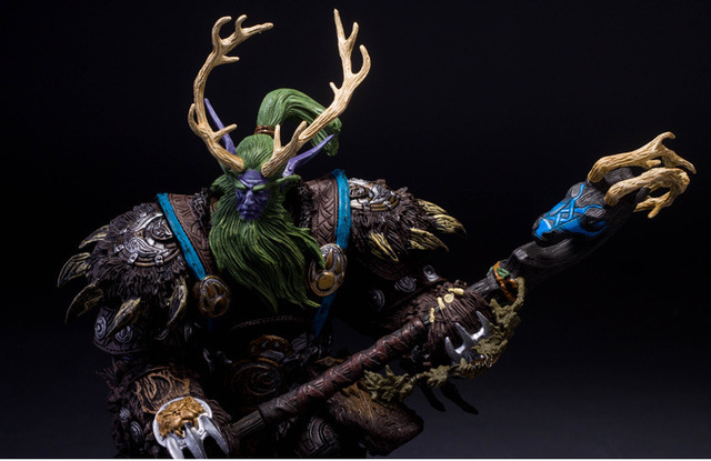 [Funny] Collection 22cm WOW Online Game Night Elf Druid Broll Bearmantle Figure Figurine model Toy Exquisite Collectible Gift  4