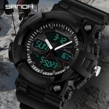 SANDA Brand Fashion Military Digital Watch Mens Waterproof Outdoor Sports Luxury Relogio Masculino