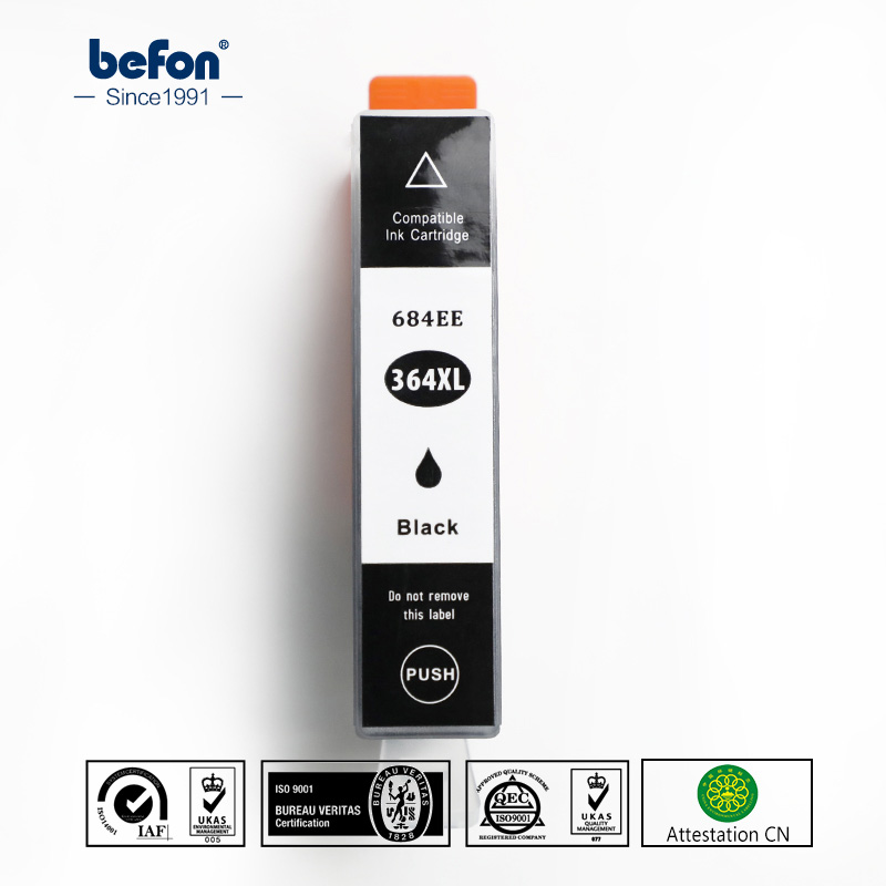 befon Compatible <font><b>364</b></font> Black Ink Cartridge Replacement for <font><b>HP</b></font> <font><b>364</b></font> HP364 684EE 684 for Deskjet 3070A 5510 6510 B209a C510a Printer image