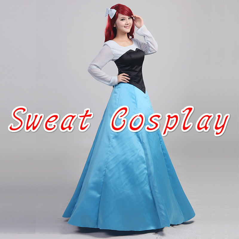 delightful Princess Ariel Costume For Adults Part - 6: High Quality The Little Mermaid Ariel Princess Costume Adult Women  Halloween Cosplay Costume Party Dress-in Movie u0026 TV costumes from Novelty u0026  Special Use ...
