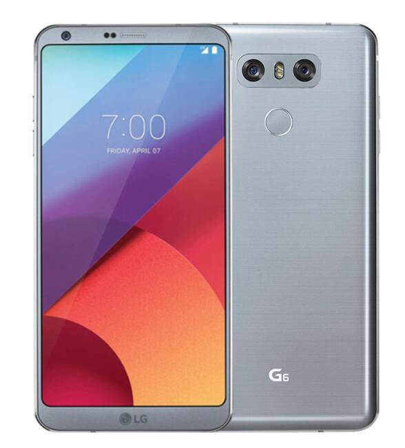 Разблокированный мобильный телефон LG G6 H871/H872/H873 5,7 дюймов 4 Гб ОЗУ 32 Гб ПЗУ Snapdragon 821 двойная задняя камера LTE отпечаток пальца - Цвет: Серебристый