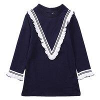 Enfants Robes Pour Les Filles Robes Coton Princesse Robes de Soirée Pour Enfants Robes de bal Filles de L'école de Style Preppy Robes 4 6 8 12