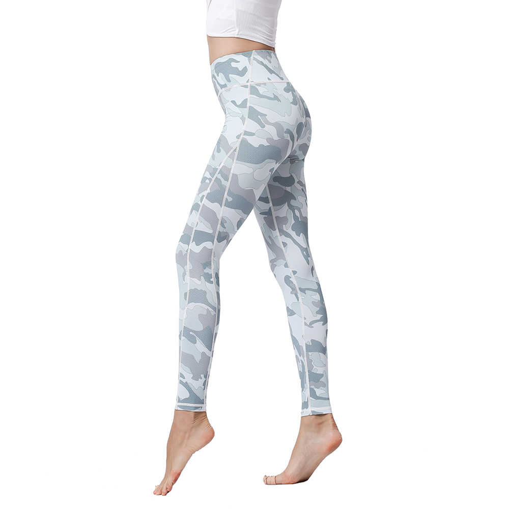 6e19dc751ad8b0 Ladies Sports High Waist Trousers Printed Quick Dry Stretch Tight Fitness  Yoga Running Gym Sports Training