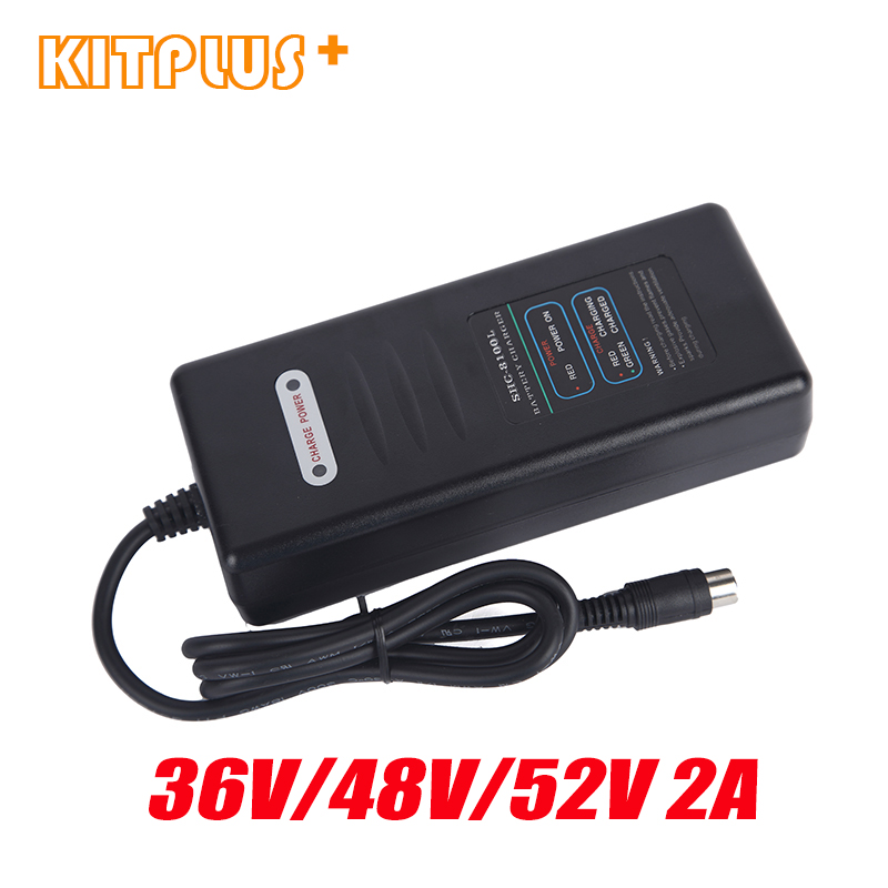 Ebike Battery Charger 36V2A 48V2A 52V2A Electric Bicycle Charger E Bike Lithium Battery Smart Charger with