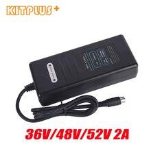 Ebike Pin Sạc 36V2A/48V2A/52V2A Xe Đạp Điện Sạc E Xe Đạp Pin Lithium Sạc Thông Minh Có DC2.1 Ổ Cắm