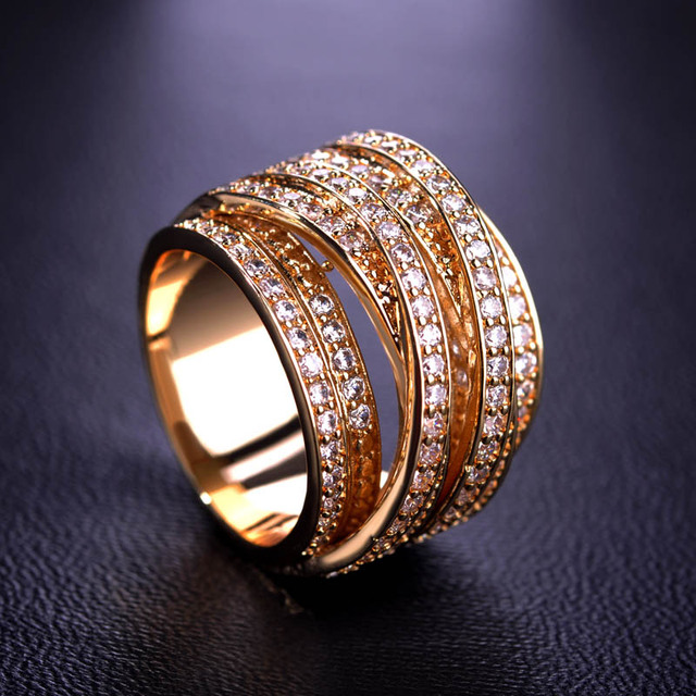 Luxury Cubic Zirconia Finger Rings Multilayer Silver Color Wedding Unisex Rings Anel Aros Schmuck Anillo Bague