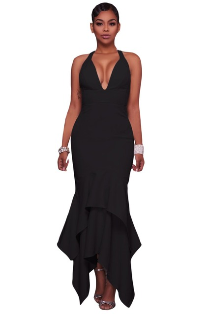 Maxi party dresses with high low hems