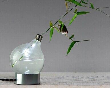 Table lamps glass vases creative home decoration lights glass lights bedroom lights flower pots planters home decor