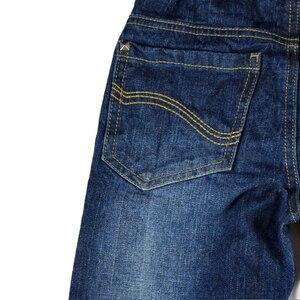 Image 4 - Детские джинсы штаны для мальчиков джинсы для подростков, брюки теплая осенне зимняя однотонная одежда с заклепками и эластичной резинкой на талии для маленьких мальчиков