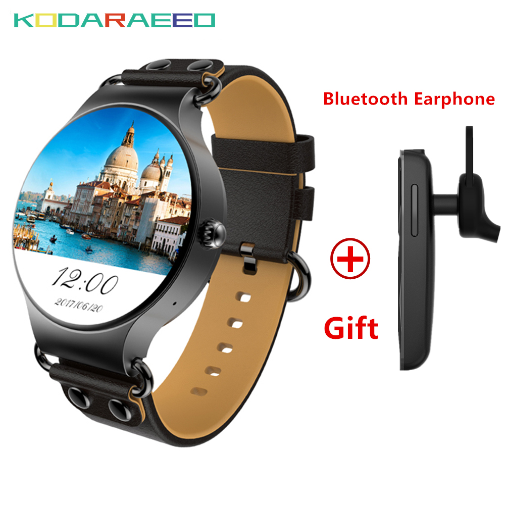 KW98 Smart Watch Android 3G watch phone WIFI GPS Smart Watch GPS Heart Rate tracker Sport watch for iOS Android Phone with gift