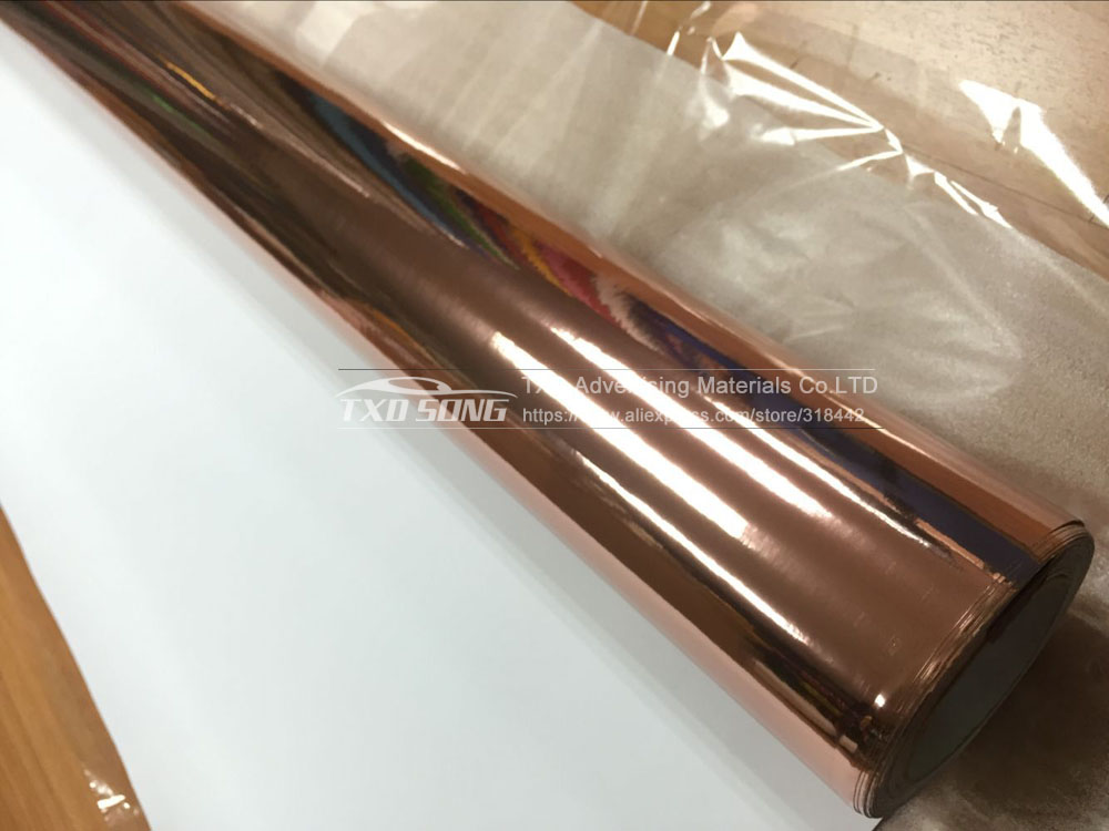 Image 2 - Rose Gold strechable chrome mirror vinyl car wrap sticker with air bubbles flexible Chrome mirror vinyl Sticker-in Car Stickers from Automobiles & Motorcycles