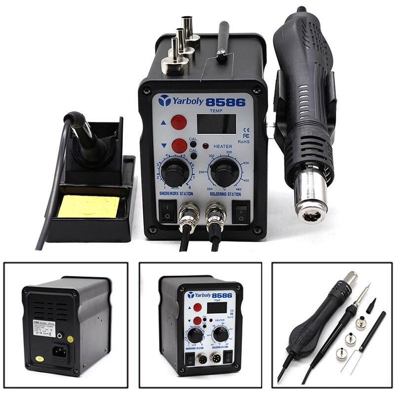 8586 Soldering Station SMD BGA Rework Hot Air Blower Heat Gun Welding Soldering Iron Repair Tool