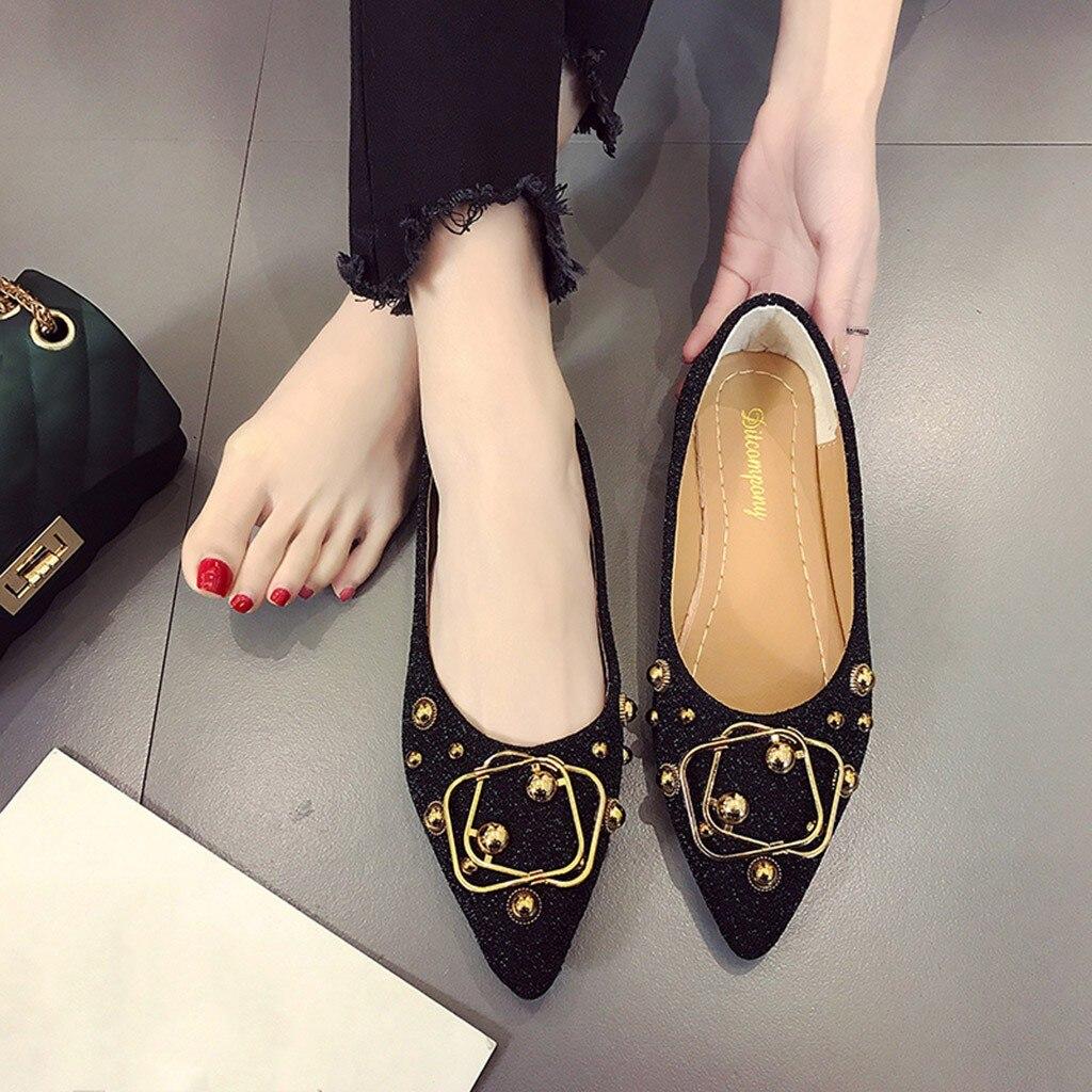 Noir Dames Bling 2019 Femmes Mocassins Muqgew Peu Mode Chaussures Métal Nouvelle Profonde argent Printemps En Arrivée Casual Confort De 18 marron Unique HFxdz8x